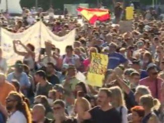 протест в Мадрид