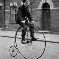 Photo of Victorian Man on Bicycle