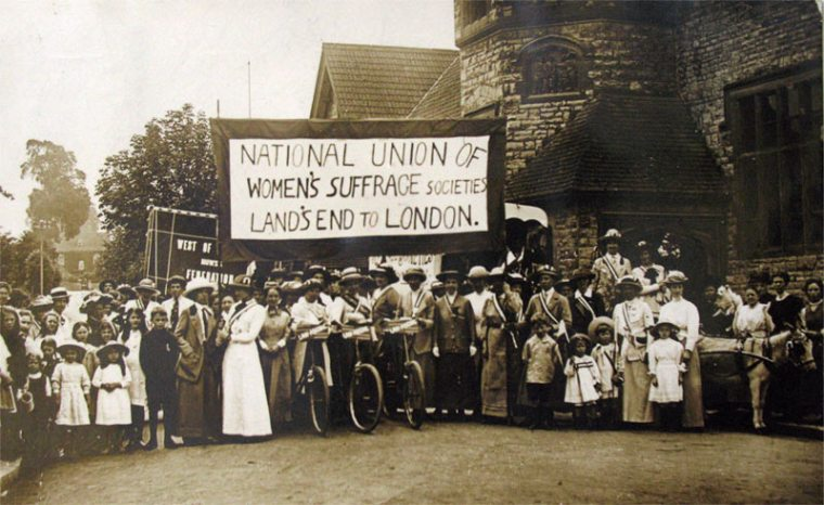 landsend-cycle national union of women's suffrage