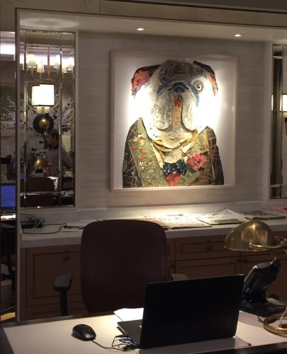 Langham London VIP Check In Pup Painting