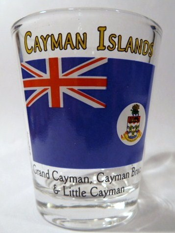 Set of 2 Cayman Islands Jumping Dolphins Boxed Shot Glass Set