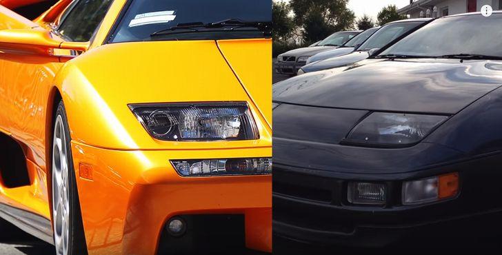 ランボルギーニ・ディアブロとフェアレディZのヘッドライト