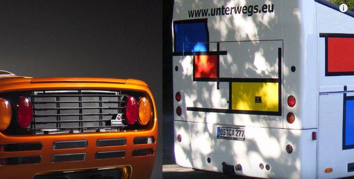 マクラーレンのテールランプはバスと同じ。。。