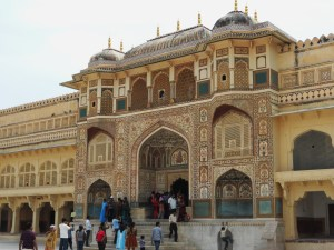 Entrance to Palace in Jaipur, Rajasthan