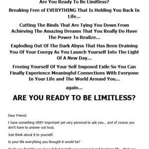 Self Help Seminar Sales Letter