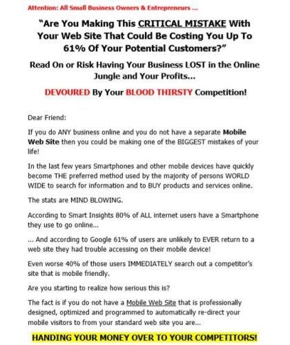 Web Site Copy for Mobile Service Company