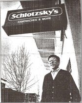 Jeff Standing Infront of his Schlotzskys