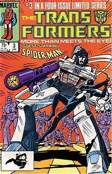 transformers spider-man