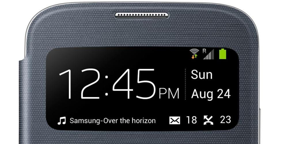 Husa S-View Flip Cover pentru Samsung Galaxy S4 (i9500, i9505), EF-CI950BBEGWW 4