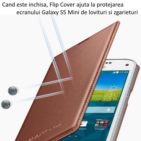 Husa de protectie Flip Wallet pentru Samsung Galaxy S5 Mini (G800) 3