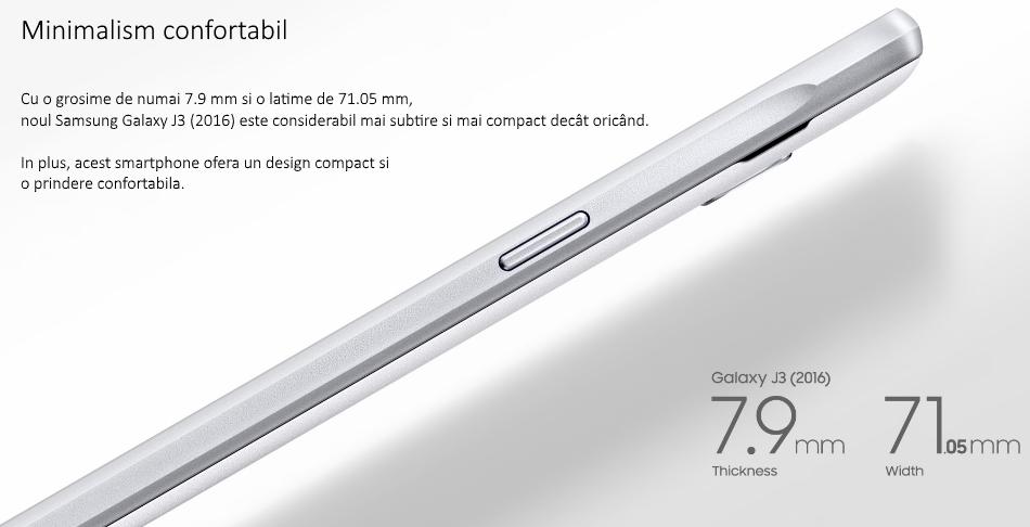 Telefon mobil Dual SIM Samsung Galaxy J3 (2016), 8GB + 1.5GB RAM, J320F Black 1