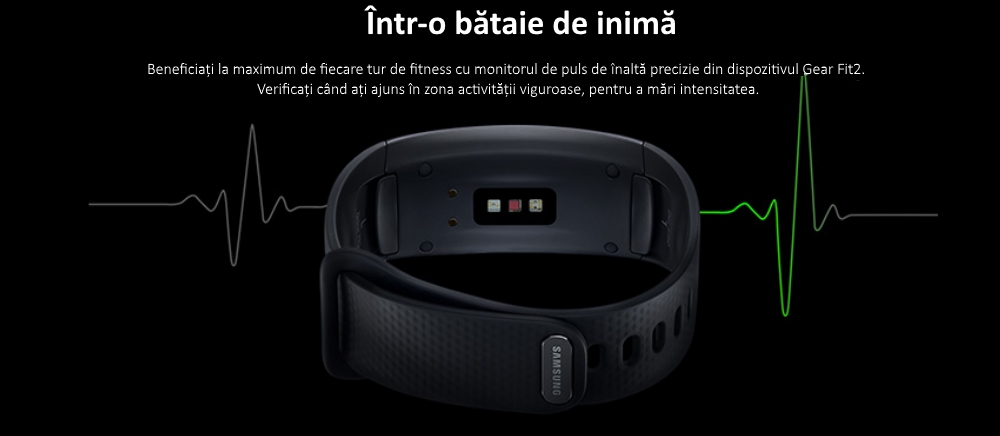 Ceas SmartWatch Samsung Gear Fit 2, SM-R360 Dark Gray 2