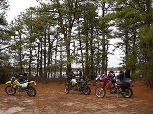 dual sport bike in Pine Barrens