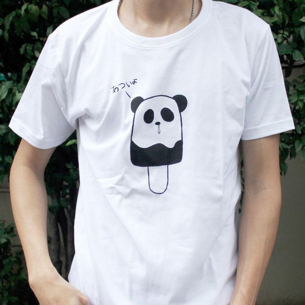 「パンダポップ」Tシャツ 着用イメージ