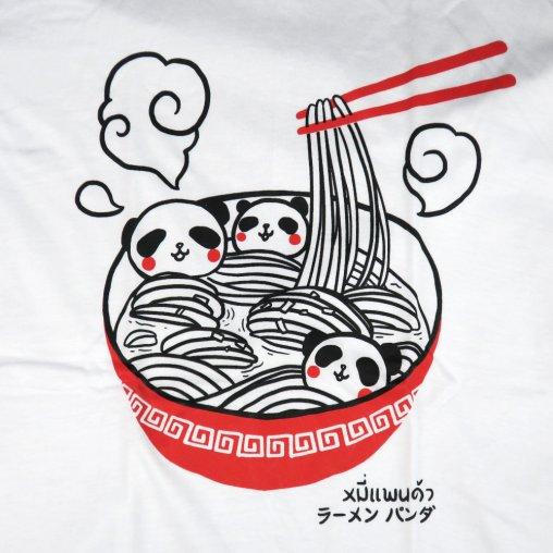 「ラーメンパンダ」Tシャツ イラスト部分