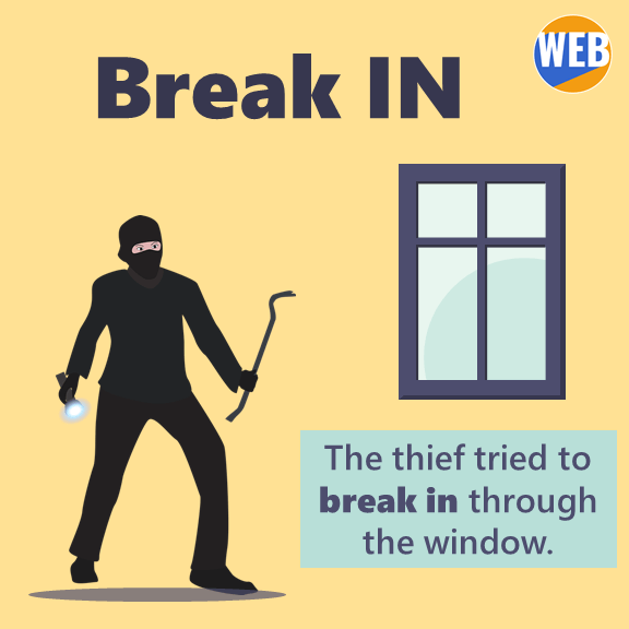 The thief tried to break in through the window.