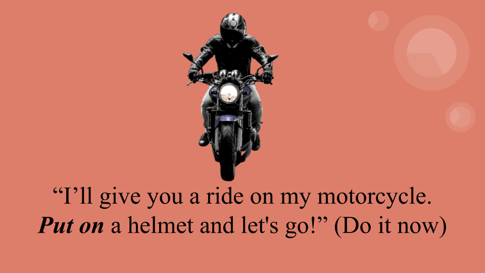 Put on a helmet and let's go!