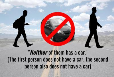 neither of them has a car