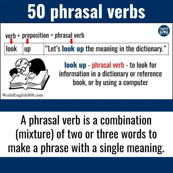 50 phrasal verbs - List and PDF download