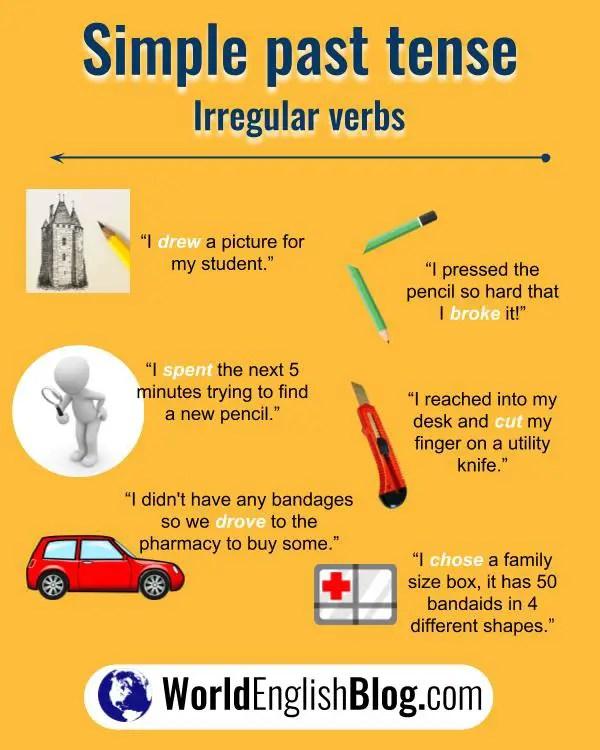 10 more English irregular verb examples