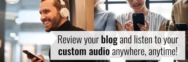 英会話レッスン - 3. Audio support