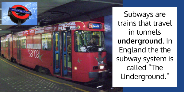 underground definition Over and Under as prefixes