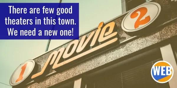 Movie theater. English grammar FEW.