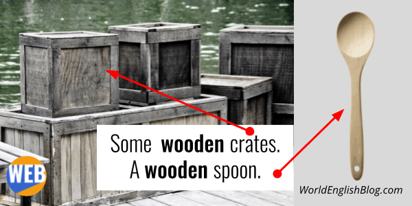 English Suffix -EN wooden