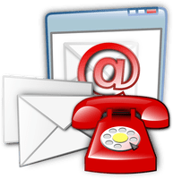 notify VS notice - We can notify you by letter, email or telephone.