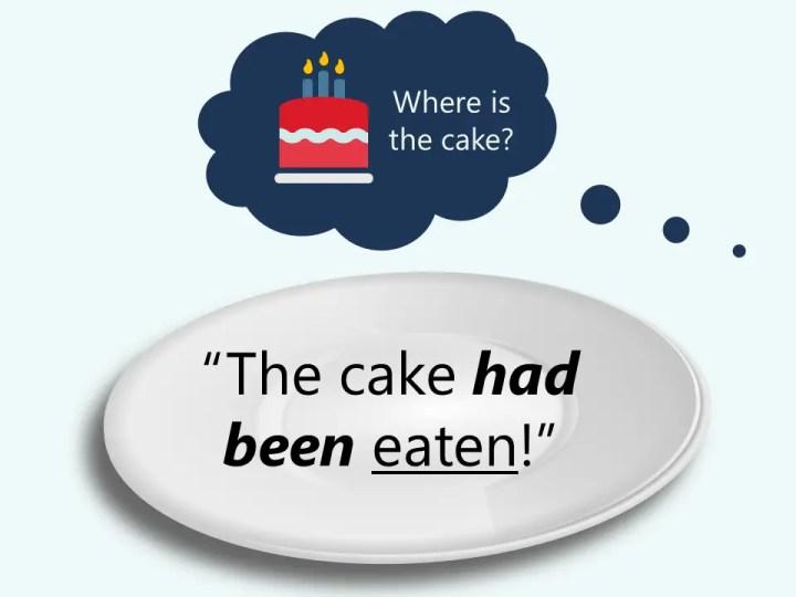 The cake had been eaten! Passive voice grammar.