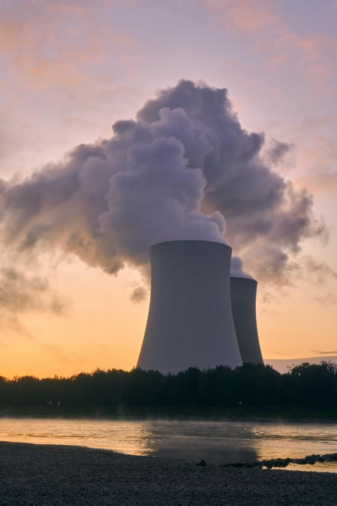 Exhaust from nuclear power plant causing air pollution