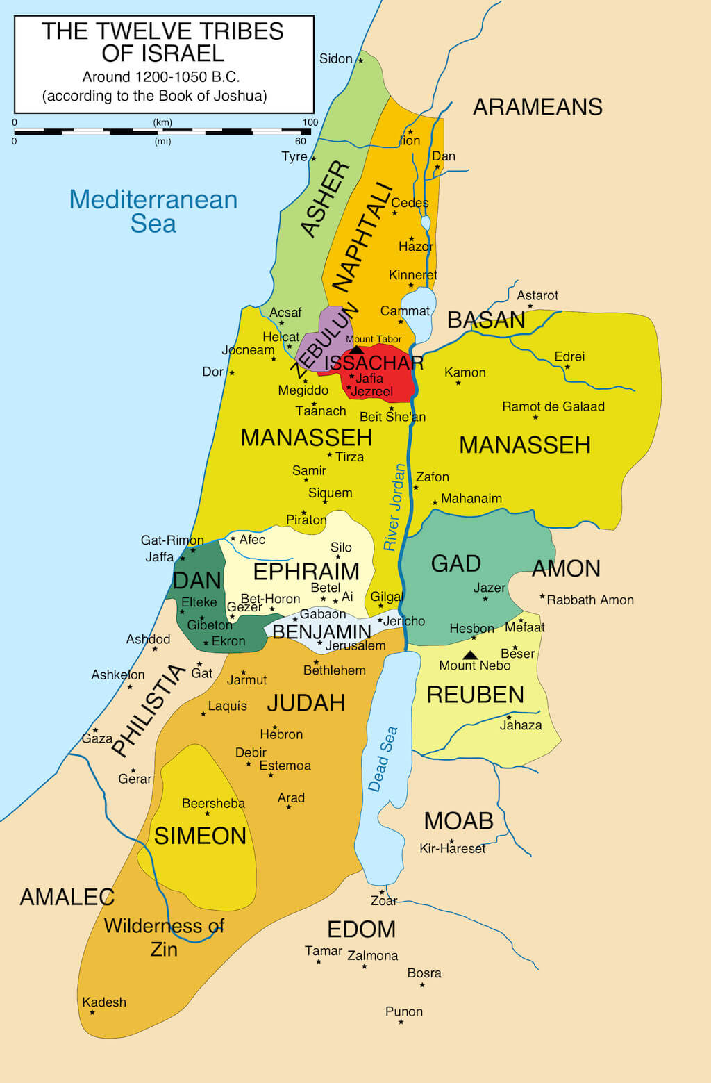 What Are The 12 Tribes Of Israel