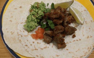 Carnitas Tacos with guacamole