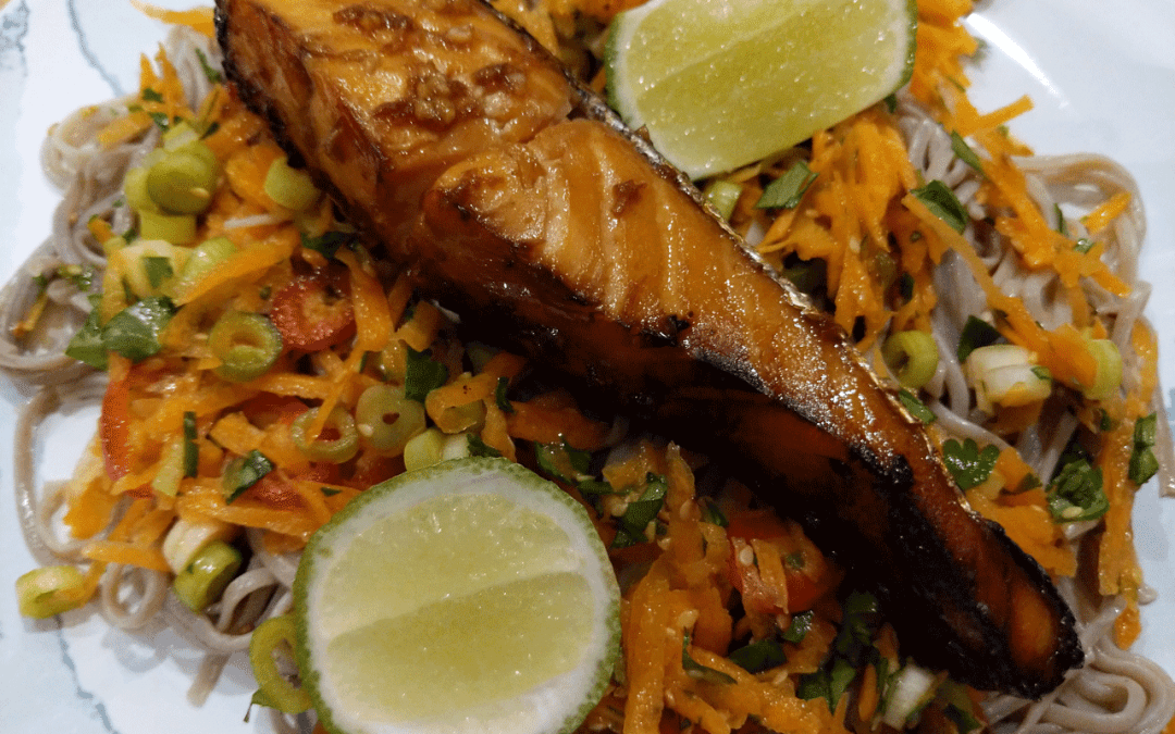 Salmon Teriyaki with Soba Noodles