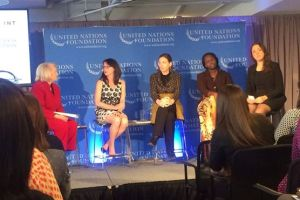 UN Foundation panel at the event discussing women in fragile states.