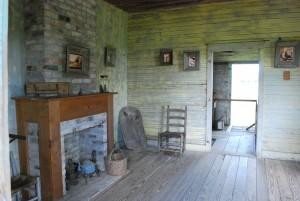Slave quarters on the Oak Alley Plantation