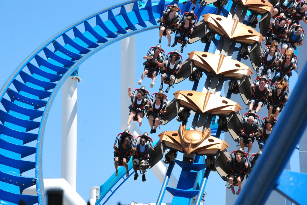 Thrillseekers riding The Gatekeeper at Cedar Point.JPG