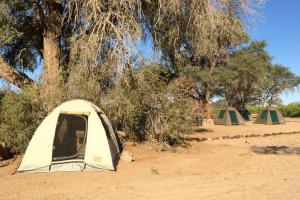 Our campsite in the Namibian desert.