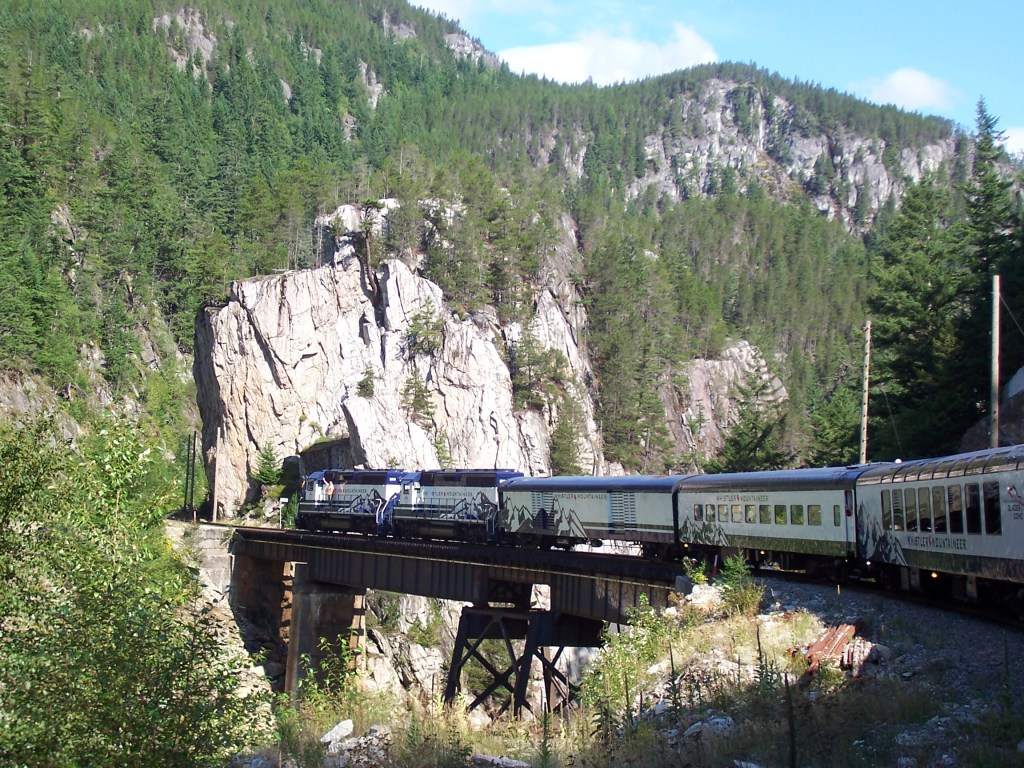 Traveling along the Rocky Mountaineer.  PHoto:  Tonya Fitzpatrick