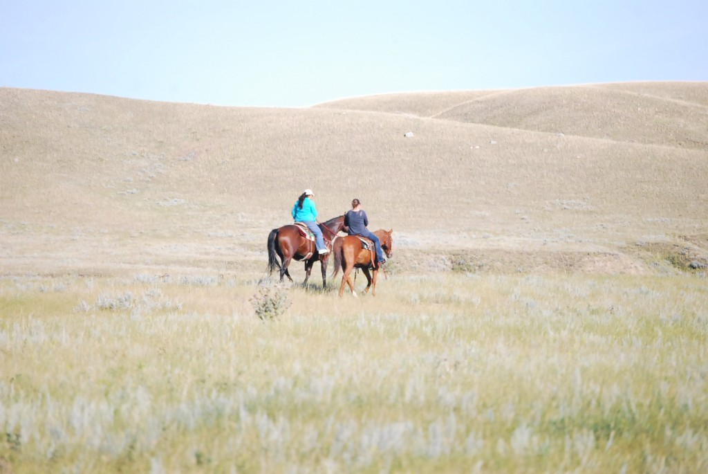 Tonya on horseback in Montana.