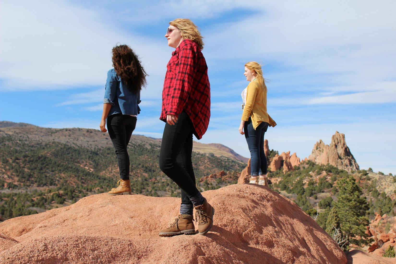 Girls on adventure