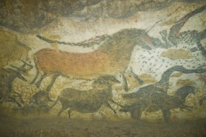 Painting in Lascaux Cave. Photo Jack Versloot