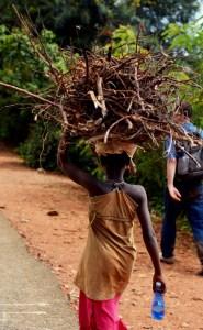Girl walking in Burundi