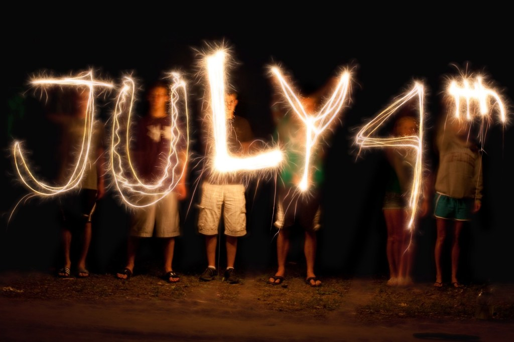 Sparkler art on July 4th