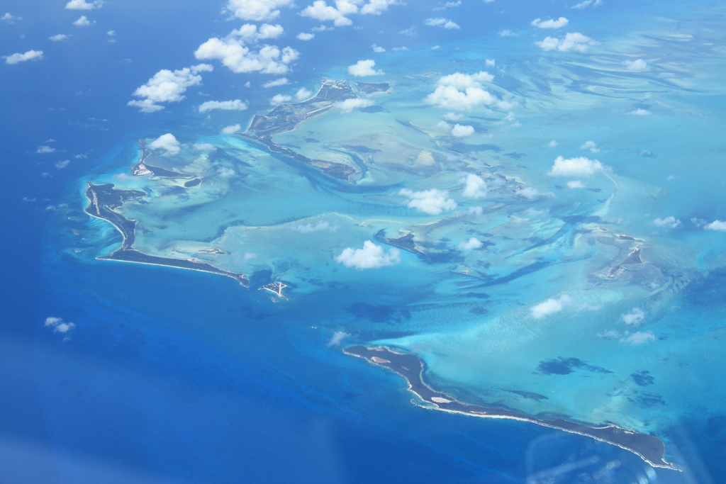 Aerial view of the Out Islands