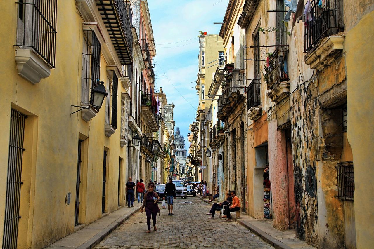 An alley in Havana, Cuba