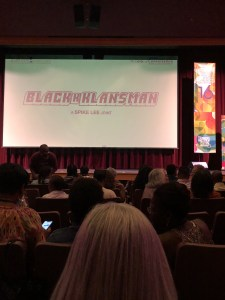 Showing of Black Klansman. Photo: Laura Wise