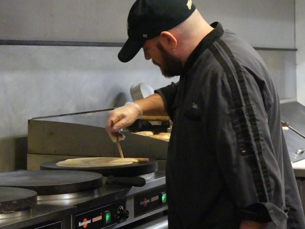 Chef Seth cooking up a fabulous meal at Wunderbar. Photo: Kathleen Walls
