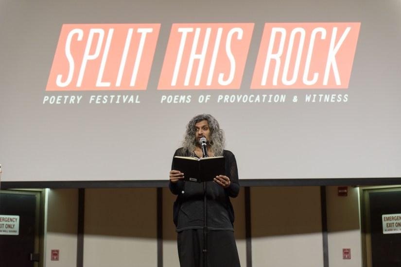 "Kazam Ali performing at ""Split This Rock"". Photo courtesy of Kristin Adair"