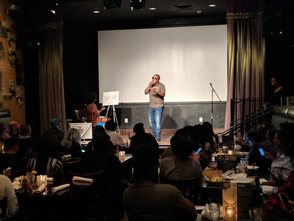 """Love Out Loud"" at Busboys and Poets in Hyattsville, Maryland. Photo: Daniel Baldwin"